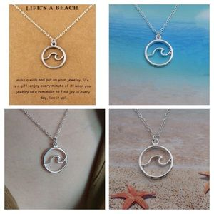 Jewelry - 🔆 Waves Silver Nautical Necklace 45 cm Chain.